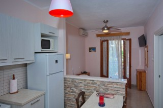room 8 dimitris pension kitchen