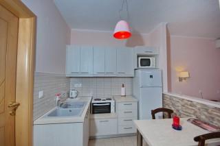 room 8 dimitris pension kitchenette